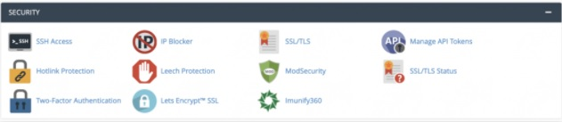 cPanel Guide Security funktioner